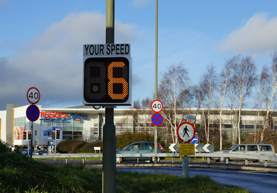 Pole Mounted Speed Display from Littlewood Hire