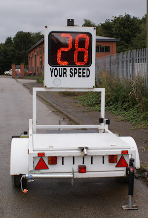 Vehicle Activated Speed Display Trailer from Littlewood Hire